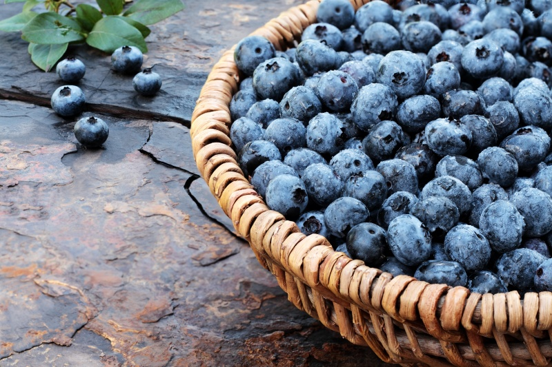 Healthy blueberries